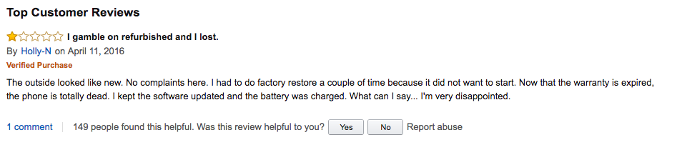 Amazon customer reviews